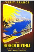 Vintage Travel Poster Riviera France